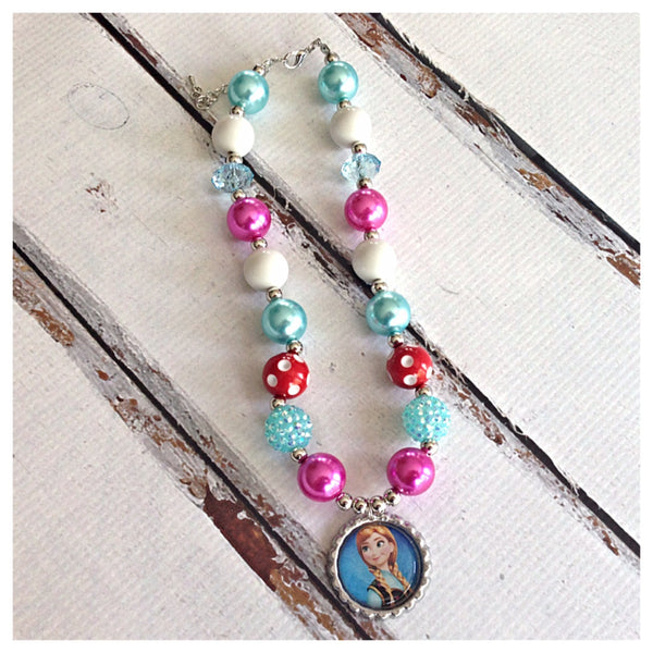 Frozen Chunky Bubblegum Style Necklaces- 3 styles!