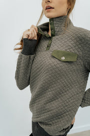 willow quilted pullover