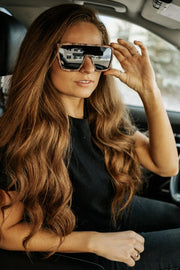 tara animal print sunglasses