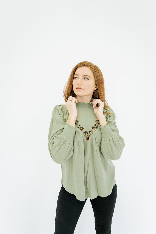 ophelia embroidered blouse