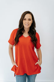 amy v-neck tee | 14 colors