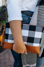 bella plaid clutches