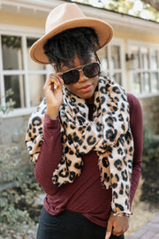 bentley leopard print scarf