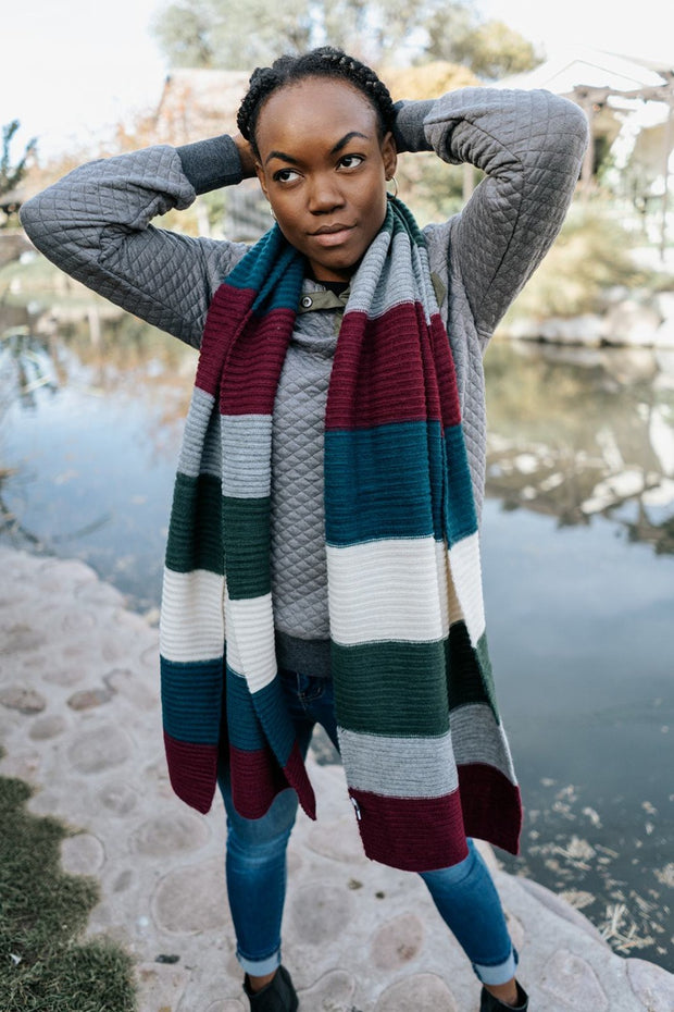 leah striped blanket scarf | 2 colors