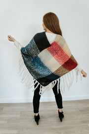 jora color block poncho | 2 colors
