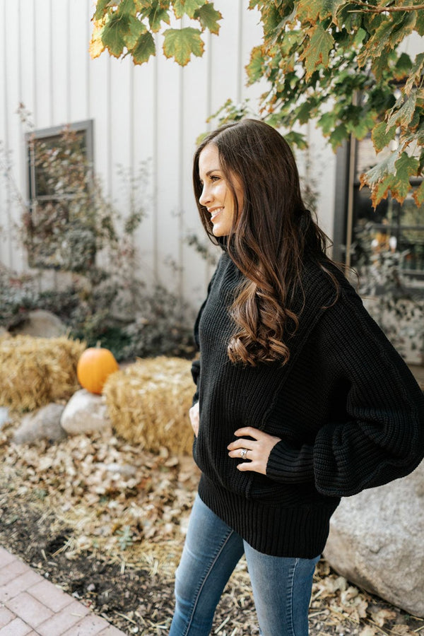 laurel oversize turtleneck sweater