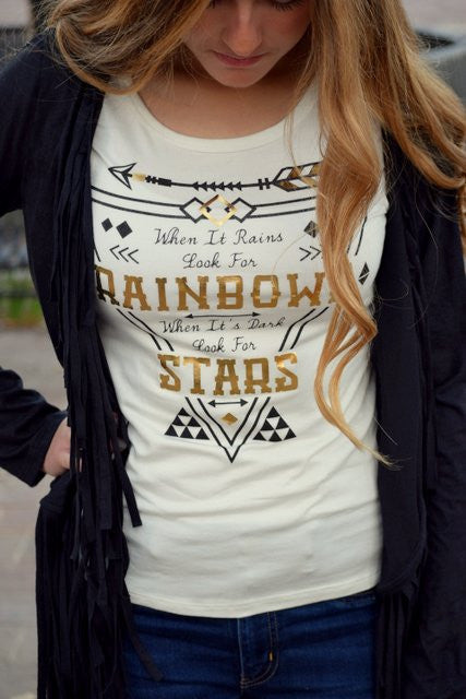 Rainbows Print Top