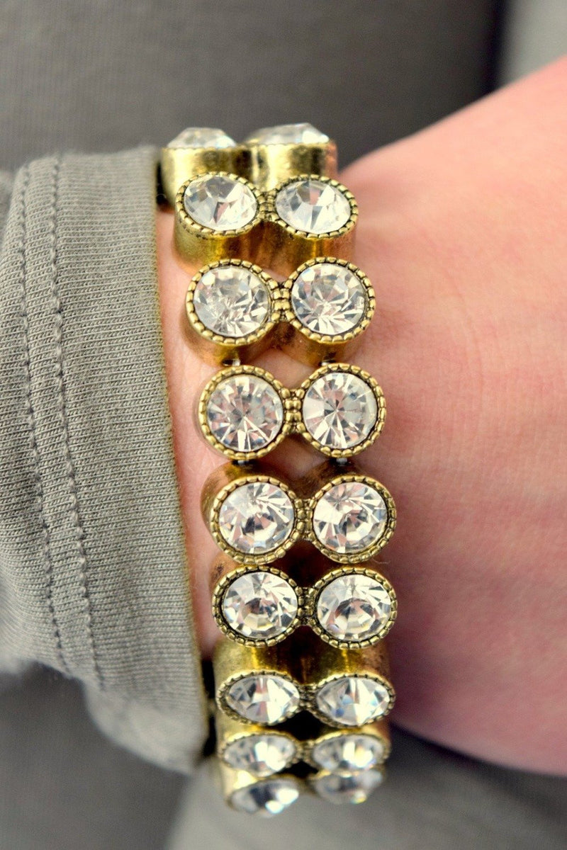 Double Row Sparkle Stretch Bracelet