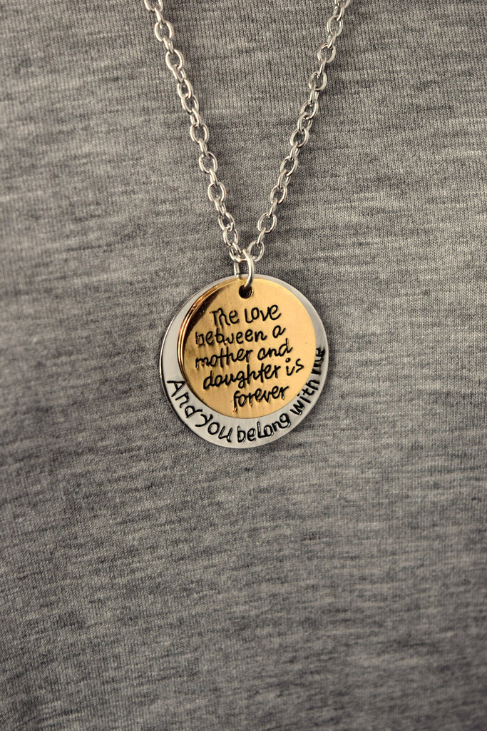 The Love of a Mother and Daughter Two-Tone Necklace