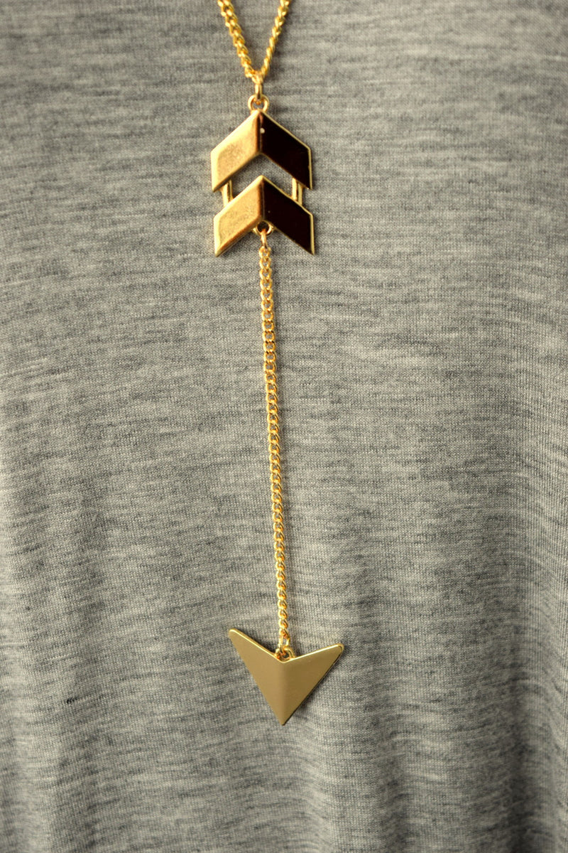 Long Gold Arrow Necklace