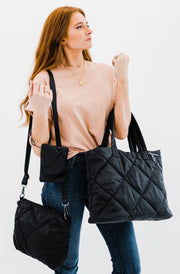 ariana quilted handbag set