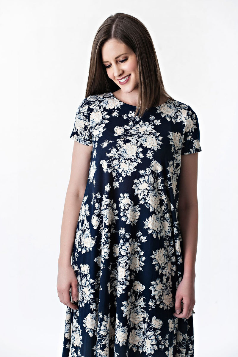 Floral Swing Dress with Pockets | 3 colors