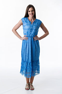 Sea Blue Lace Dress Modernchic