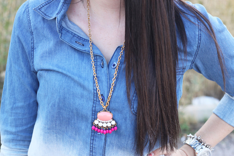 Single Fringe Necklace