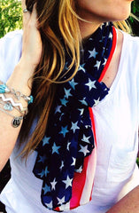 Stars and Stripes Lightweight Scarf