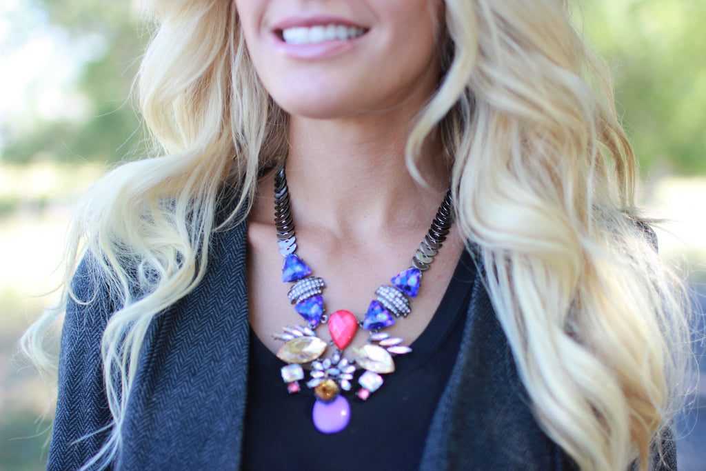 Haven Rhinestone Statement Necklace