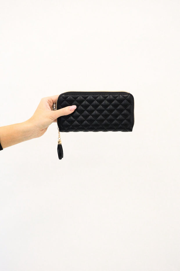 zara quilted wallet
