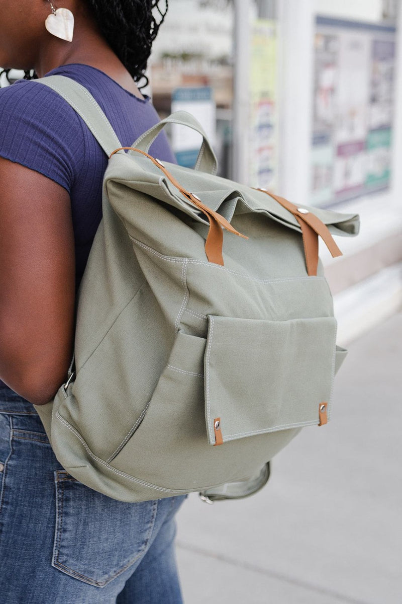 alison roll top backpack