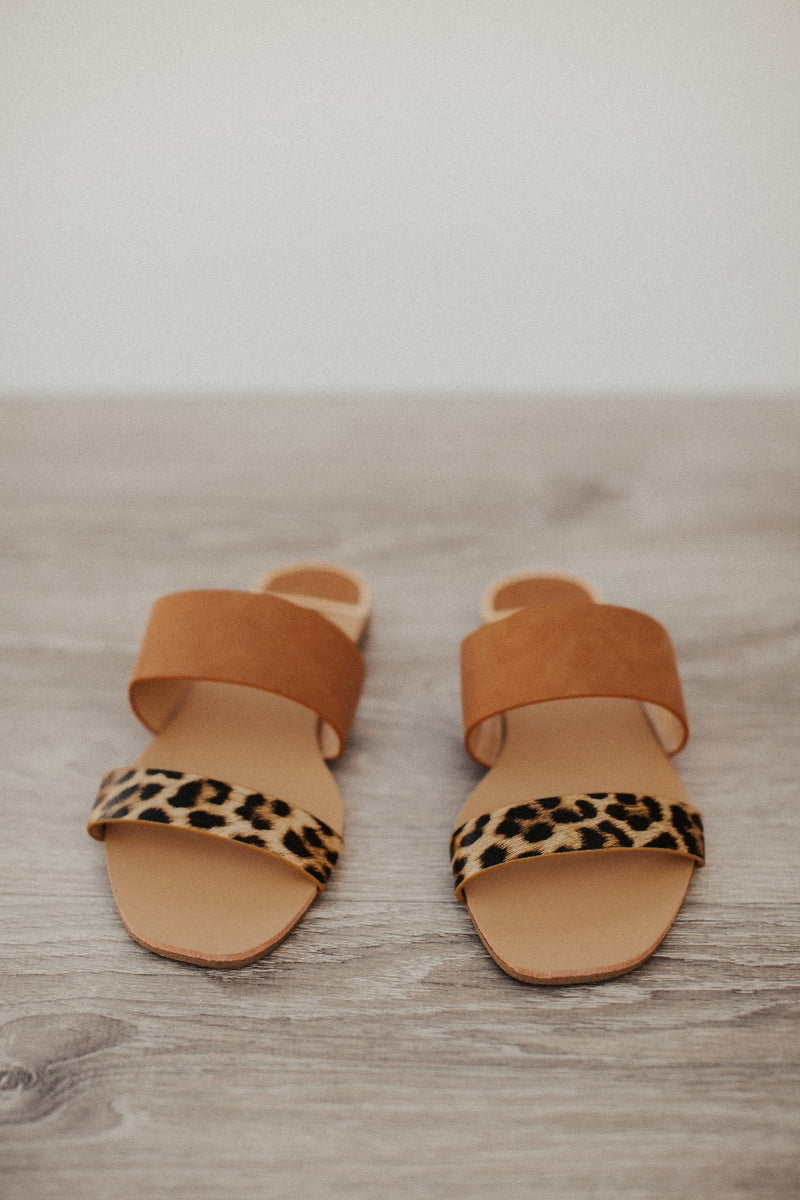 animal print asymmetrical sandals