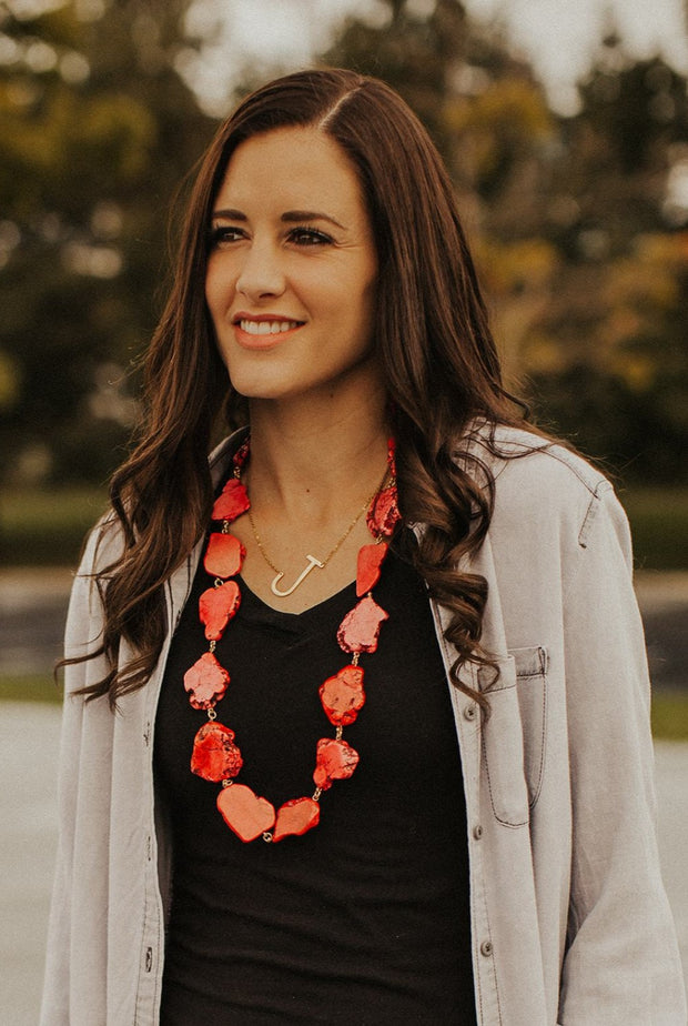 evelyn natural stone necklace | 6 styles