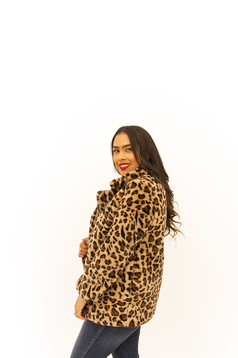 riley leopard + pink coat