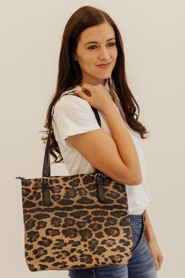 peri brown leopard shoulder bag