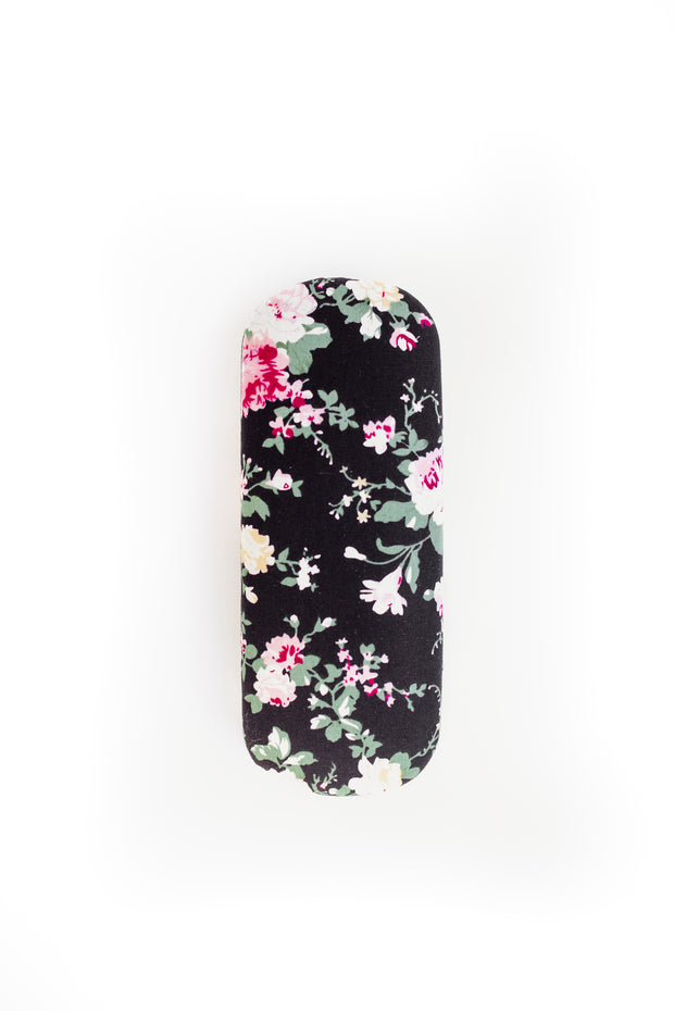 fancy floral sunglasses case