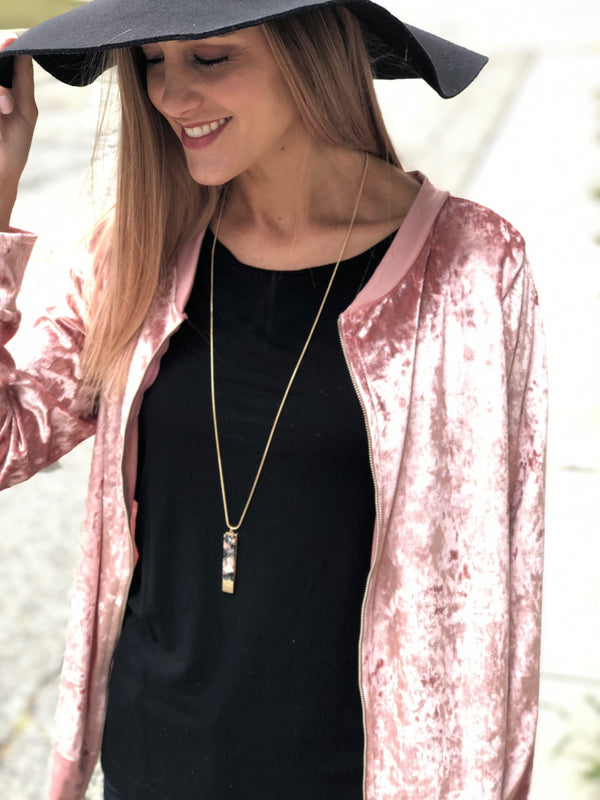Velvet Bomber Jacket - 4 Colors!