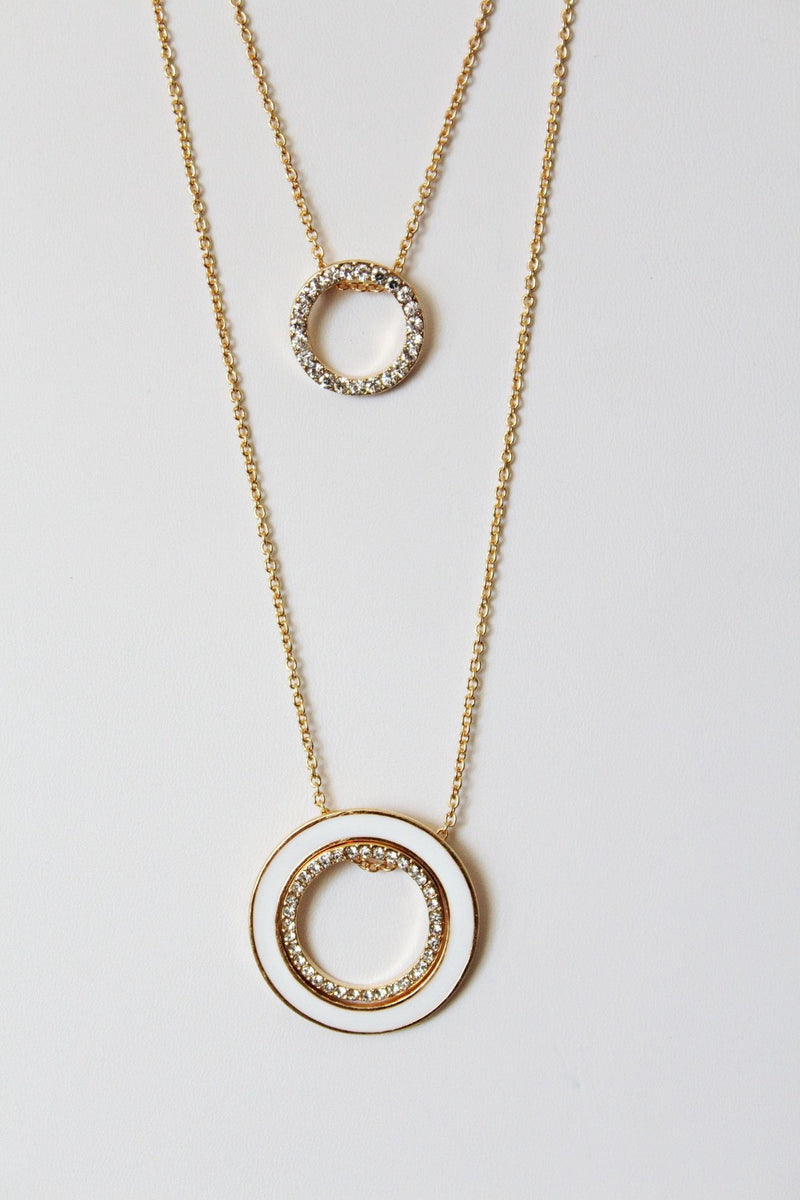 Eternity Double Circle Layered Necklace
