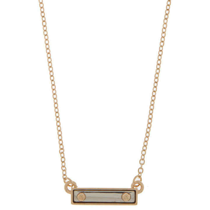 Sleek Two Tone ID Necklace