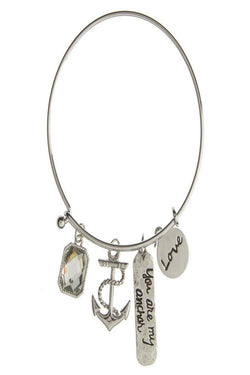 "Lovely ""You are my Anchor"" Charmed Bracelet"