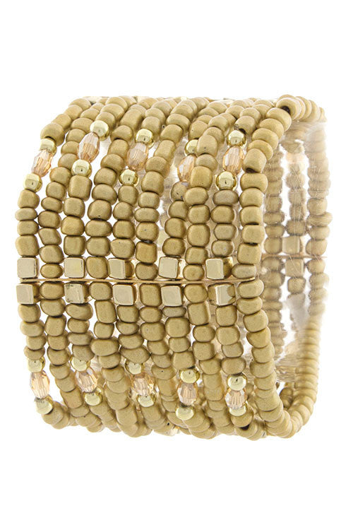 Timeless Multi Bead Stretch Bracelet
