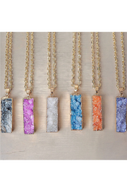 Colorful Druzy Stone Bar Necklaces