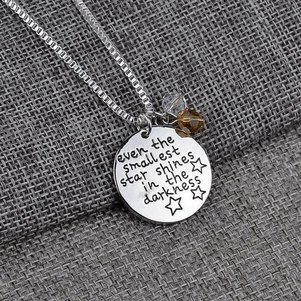 Even the smallest star shines necklace