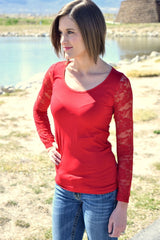 Lovely Lace Long Sleeve T | 5 colors