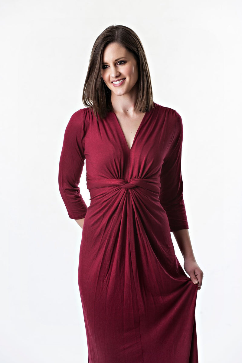 Knotted Drape Front Maxi Dress | 5 colors