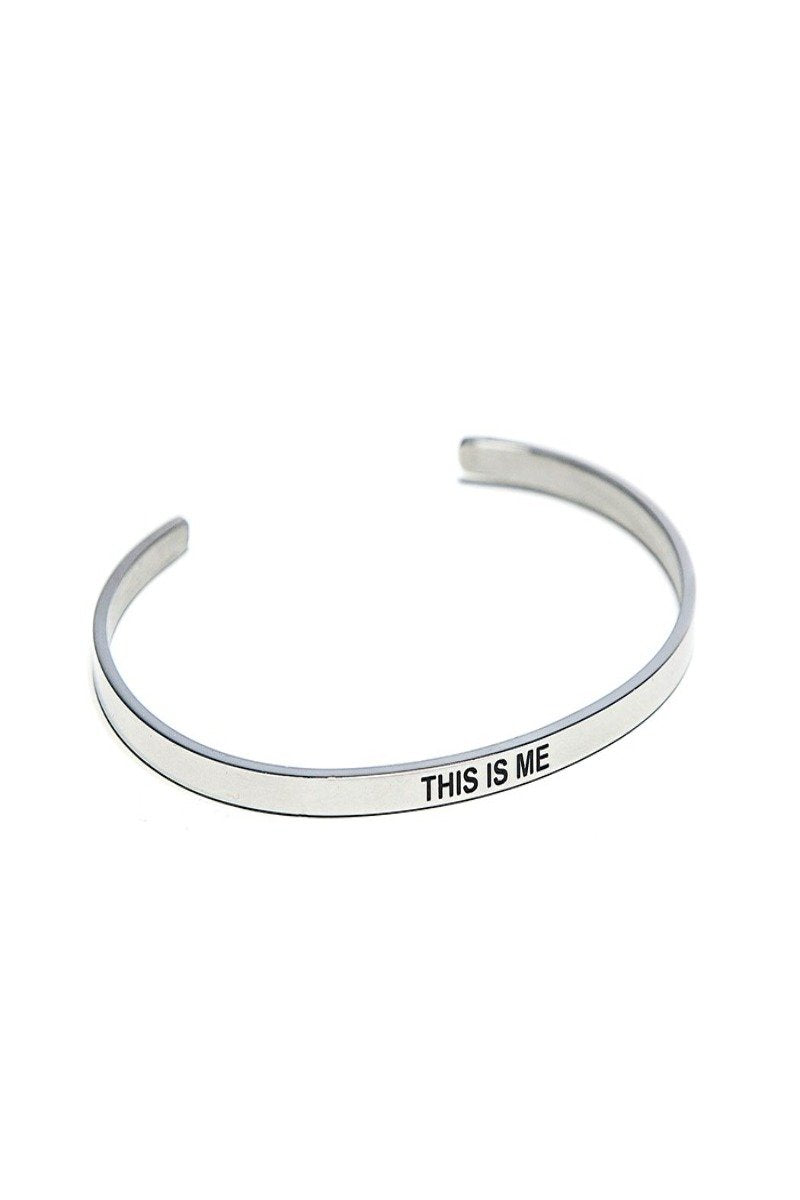 this is me bracelet cuff