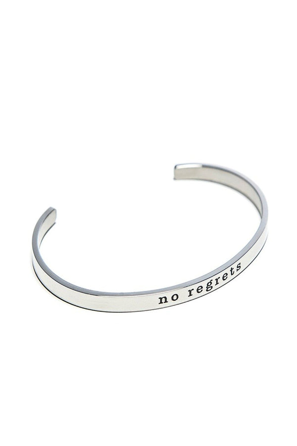 no regrets bracelet cuff