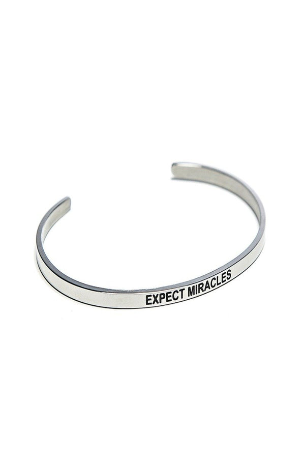 expect miracles bracelet cuff