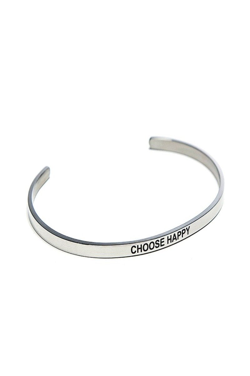 choose happy bracelet cuff