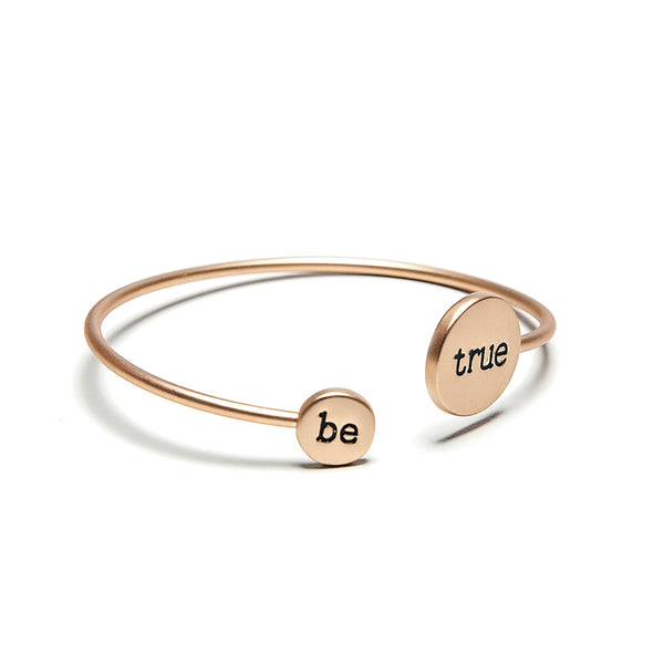 just be matte bracelet gold