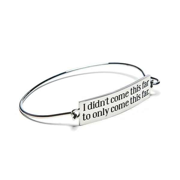 come this far bar + wire bracelet