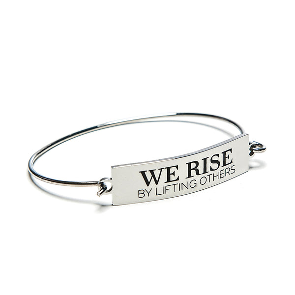 we rise bar + wire bracelet