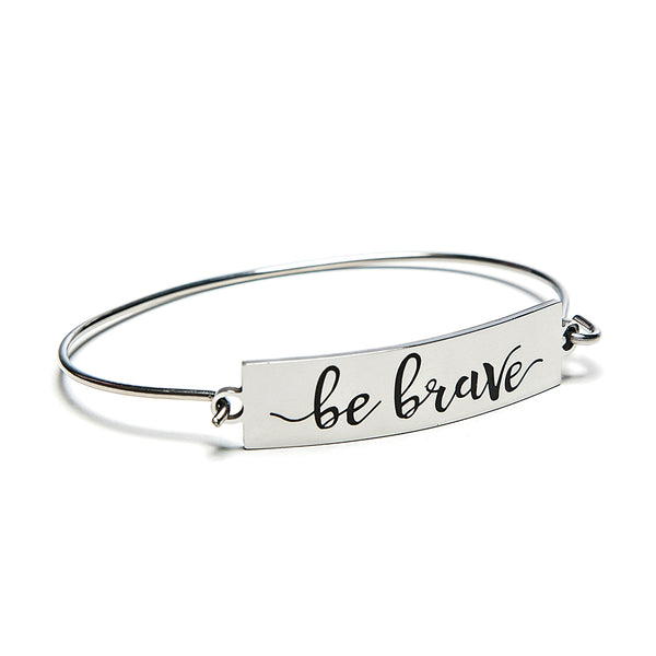 be brave bar + wire bracelet