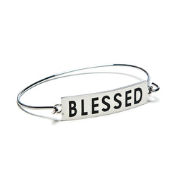 blessed bar + wire bracelet