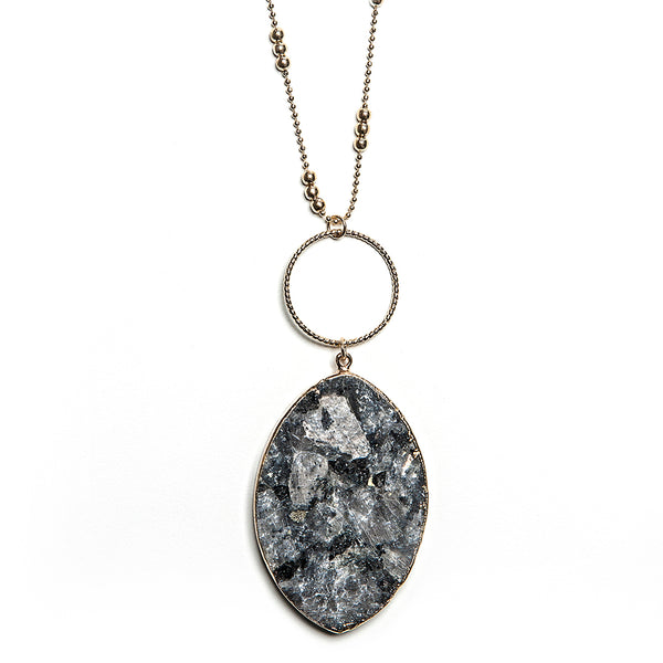 sadie stone pendant in river gray
