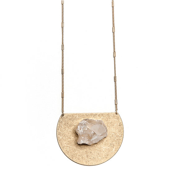 bailey medallion pendant in beige
