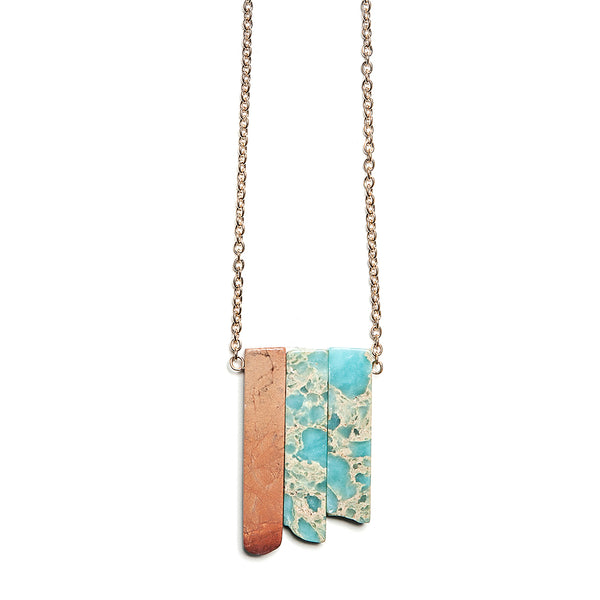 charlotte stone shards necklace