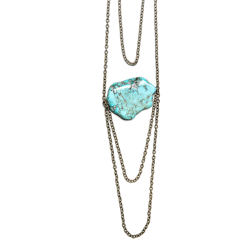 scarlett layered single stone necklace