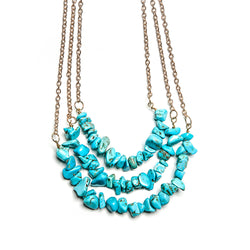 rosie stacked stones necklace